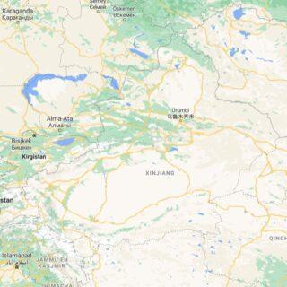 Xingjiang op de kaart