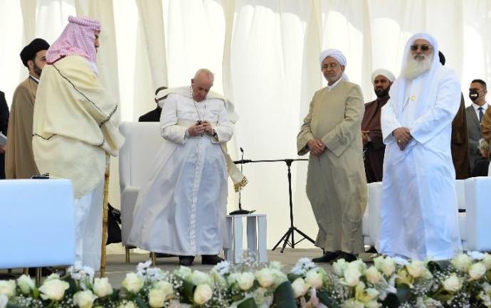 paus in Irak, in Ur maart 2021